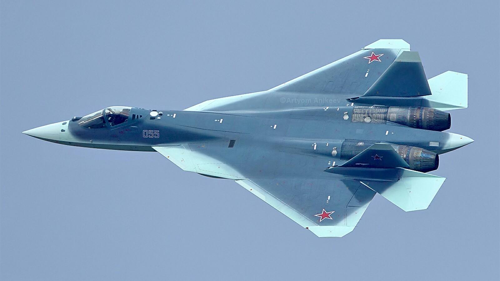 Sukhoi SU-57 Russian Super Stealth fighter jets Amazing maneuver