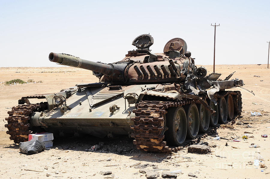 Russian T-72 tank destroyed by US drone Al Tabiyeh in Syria