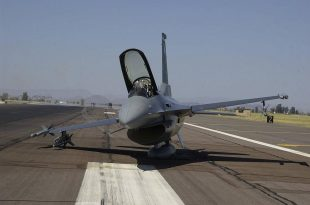See how F-16 Fighting Falcon made a belly landing on its ALQ pod and tanks