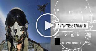 Unconscious F-16 Pilot Saved by Auto-GCAS Auto Pilot