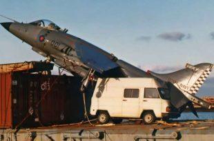 Royal Navy Pilot landed Sea Harrier on Cargo ship - Alraigo incident