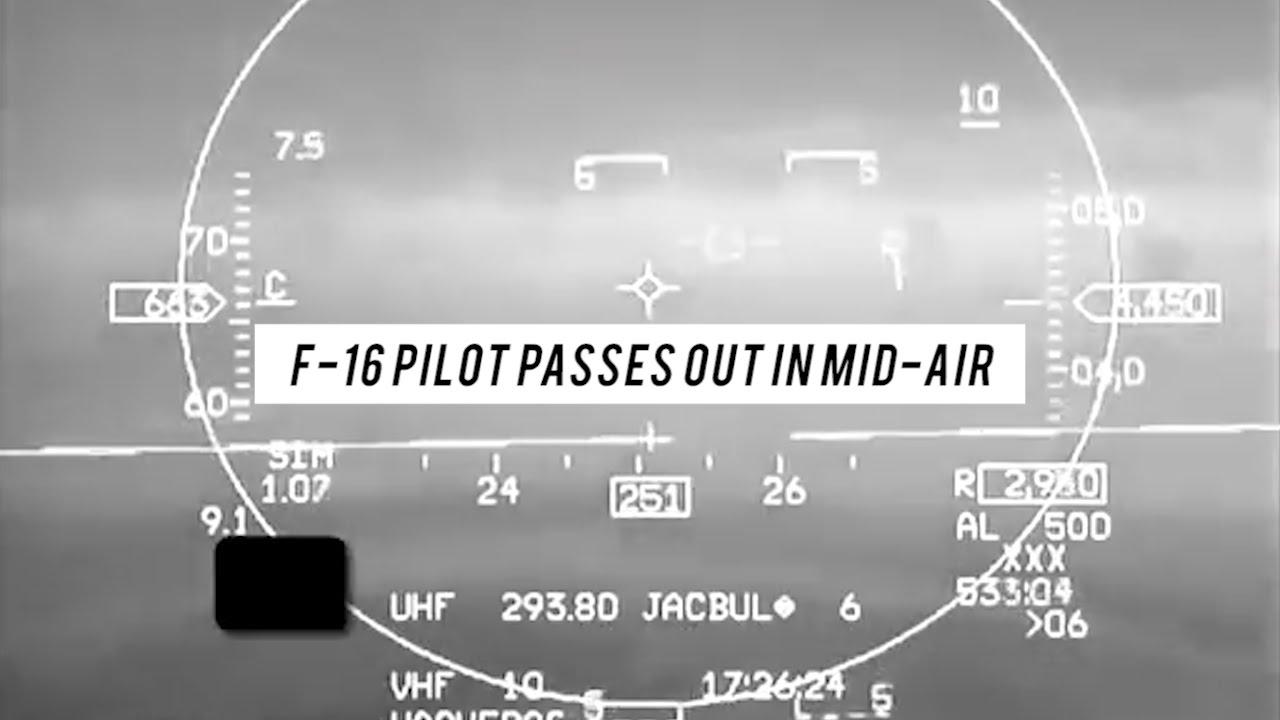 Watch: Unconscious F-16 Pilot Saved by Auto-GCAS Auto Pilot