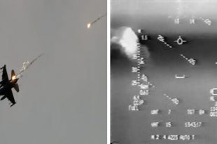 Videos of U.S. Air Force and U.S. Navy Fighter jets evading enemy SAM missiles in combat