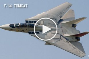 Two F-14 fighter jets Destroying two MiG-23 Floggers in combat