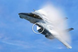 F-14 Tomcat engine explode after Sonic boom due to compression failure