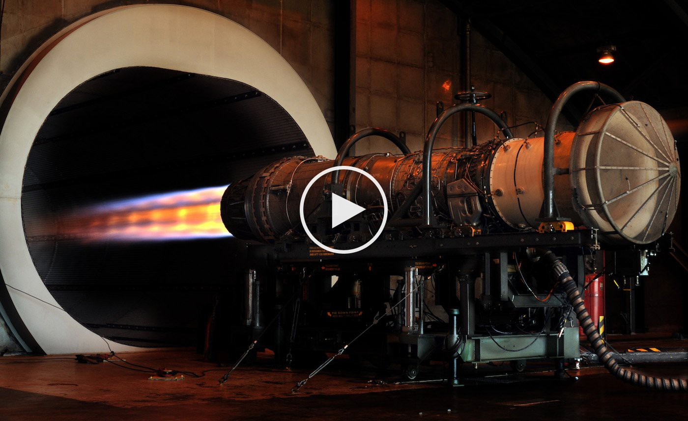 F 16 Jet Engine Test At Full Afterburner In The Hush House