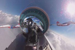 360 VR video of Swifts & Russian Knights Russian aerobatic team