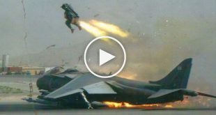 Vertical take-off and landing fighter jets crash caught on camera