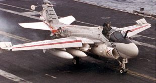 KA-6D Navigator Partially Ejected Out flying plane & got stuck in canopy