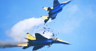 Two Mig-29's Fighter jet Mid-air collision caught on camera at Airshow