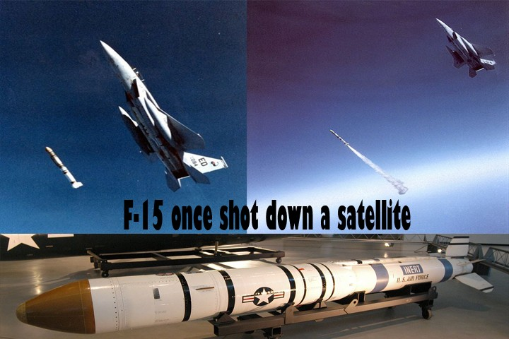 That Time USAF F-15 Eagle fighter aircraft shot down a satellite using air-launched anti-satellite multistage missile