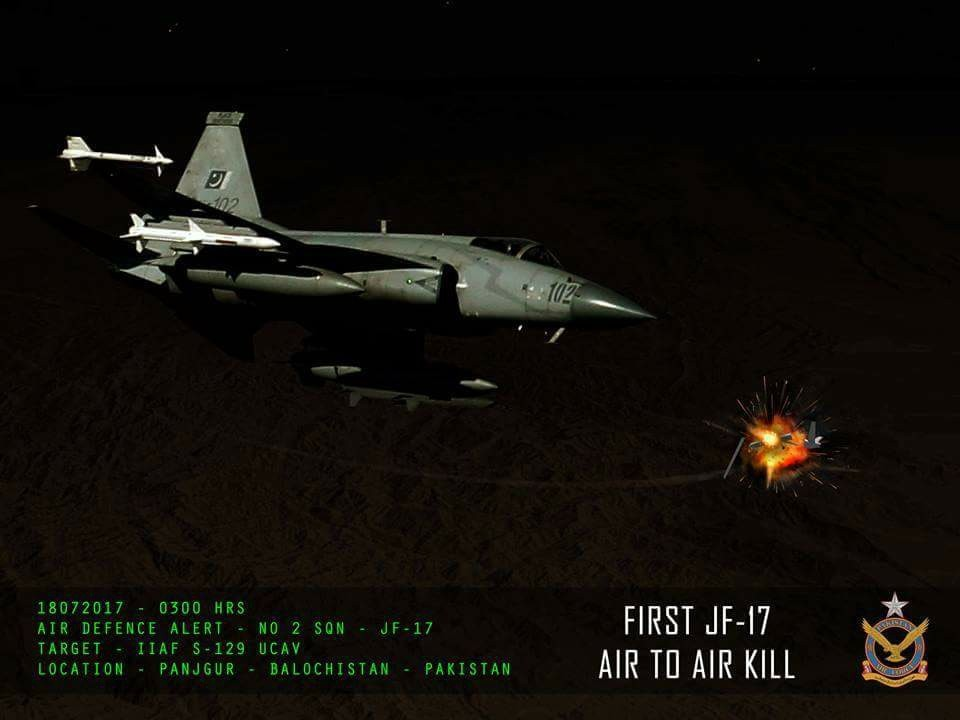 JF-17 Thunder First air to air kill | Fighter Jets World