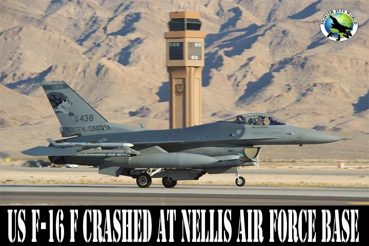 F-16C Fighter jet crash-lands at Lake Havasu City