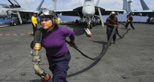 35 women made history by launching 35 aircraft from the flight deck of Aircraft carrier