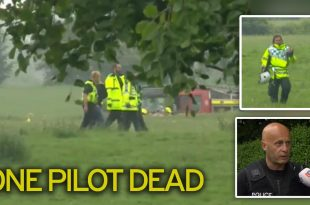 A helicopter crashed in a field near Boroughbridge, Pilot dead