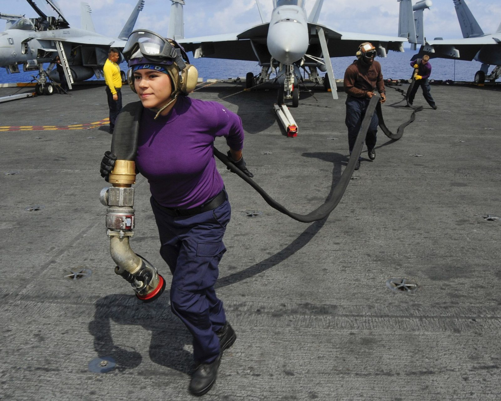 35 women made history by launching 35 aircraft from the flight deck of USS Theodore Roosevelt
