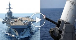 Aircraft carrier Cannon that can Fires 4,500 Rounds a Minute