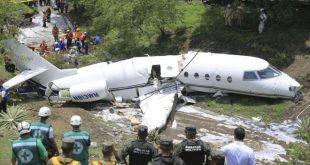 Gulfstream G200 jet splits in half in crash landing at Honduras -6 injured