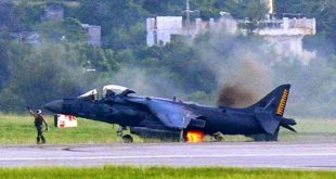 "The Story of Brave Harrier Pilot who landed AV-8B Harrier II being on fire ""from nose to aft"""