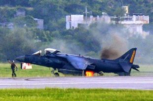 """The Story of Brave Harrier Pilot who landed AV-8B Harrier II being on fire """"from nose to aft"""""""