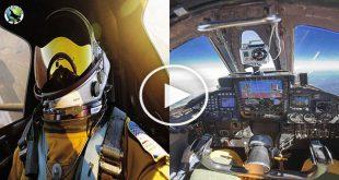 U2 Dragon Lady Cockpit view at 70,000 feet