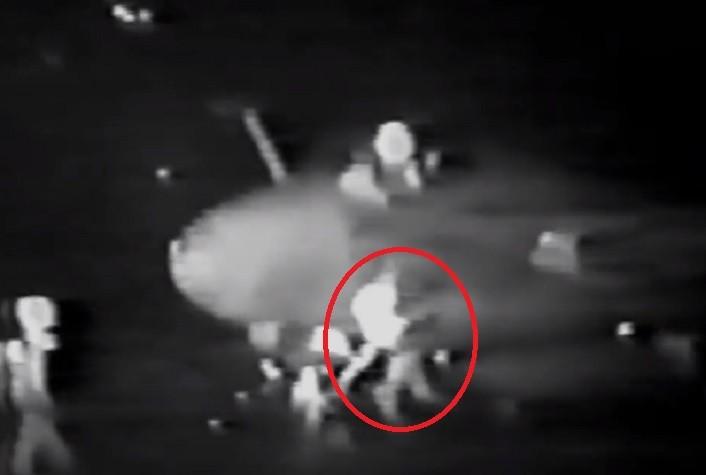 US NAVY Sailor got sucked into A-6 Intruder jet engine intake