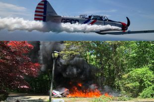 GEICO Skytypers SNJ-2 small plane crash in Melville, Pilot dead