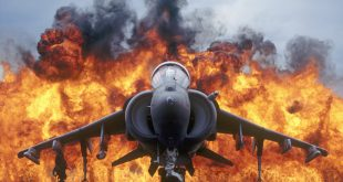 """When a Brave Harrier Pilot landed Harrier being on fire """"from nose to aft"""""""