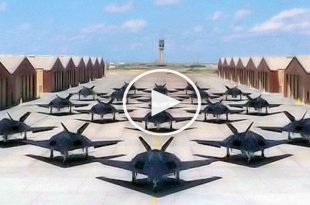 25 Lockheed F-117 Nighthawk Formation Flyby