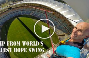 Video of Jump from World's Tallest Rope Swing - Do you dare to jump?