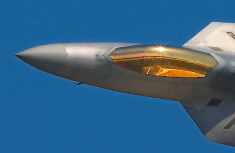 Why F-22 have golden canopies?