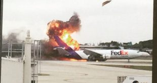 When FedEx Express Flight 910 plane burns at Fort Lauderdale airport