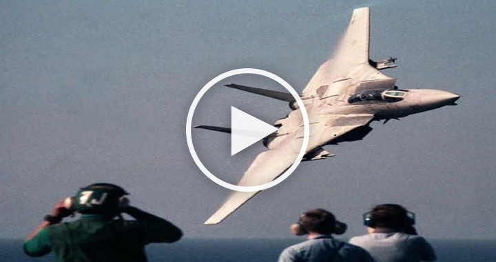 Grumman F-14 Tomcat low level flying and sonic boom compilation