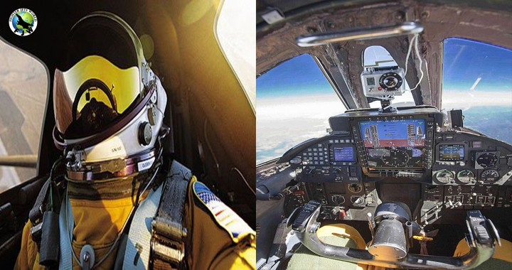 U2 Dragon Lady Cockpit view at 70,000 feet - living on the edge of Space