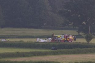 aircraft crashed in Monmouthshire