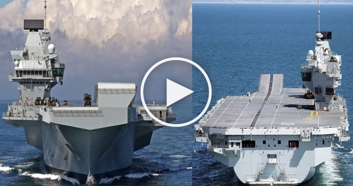 HMS Queen Elizabeth Aircraft Carrier - largest Royal Navy warships