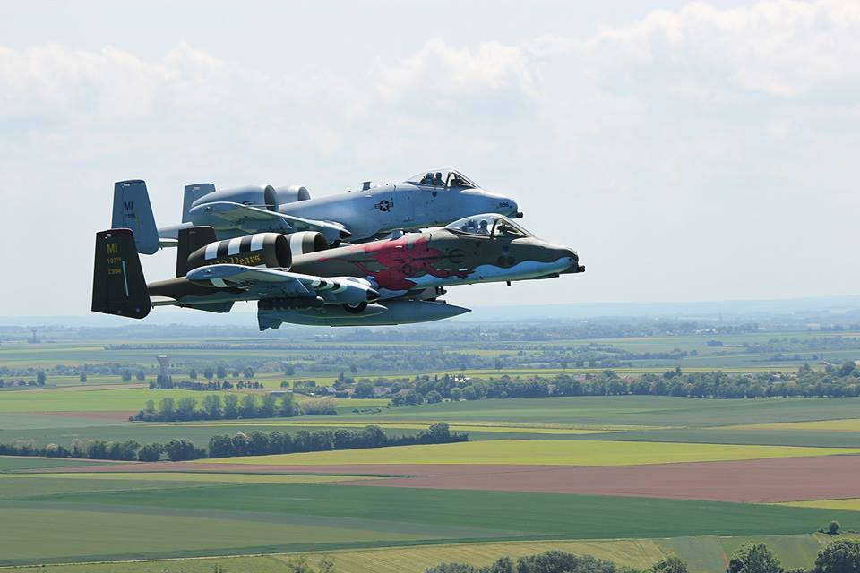 A-10 fly over the beaches of Normand For D-Day 74 Ceremonies 2