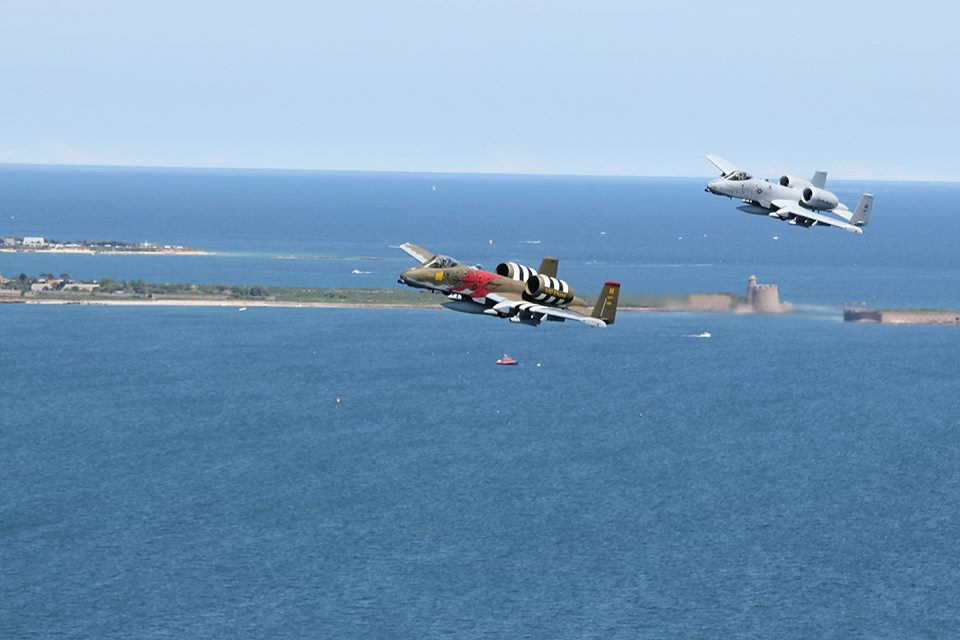 A-10 fly over the beaches of Normand For D-Day 74 Ceremonies 6
