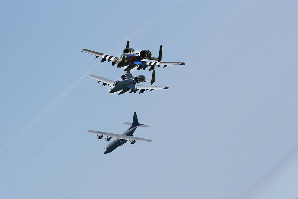 A-10 fly over the beaches of Normand For D-Day 74 Ceremonies 5