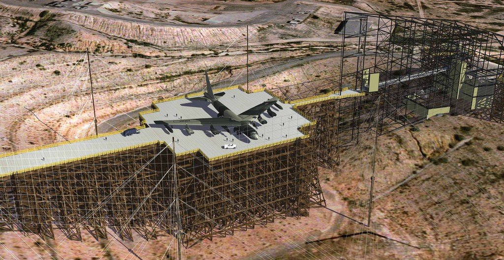 3D computer generated model of the Kirtland AFB Trestle