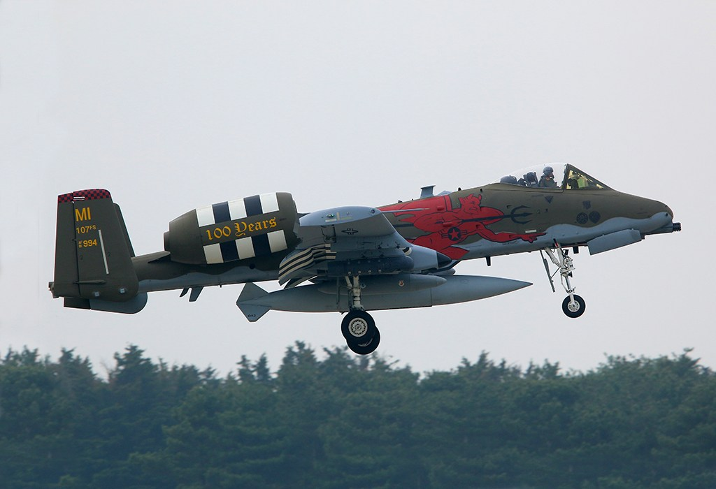 A-10 fly over the beaches of Normand For D-Day 74 Ceremonies 3