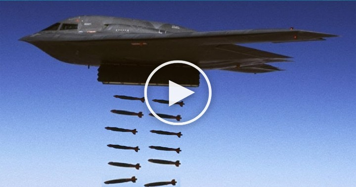 Video of B-2 Bomber Destroying an Airfield with 80 Bombs