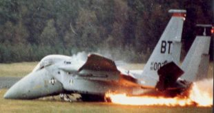 F-15 Emergency landing – Runway Overshoot led to Ejection