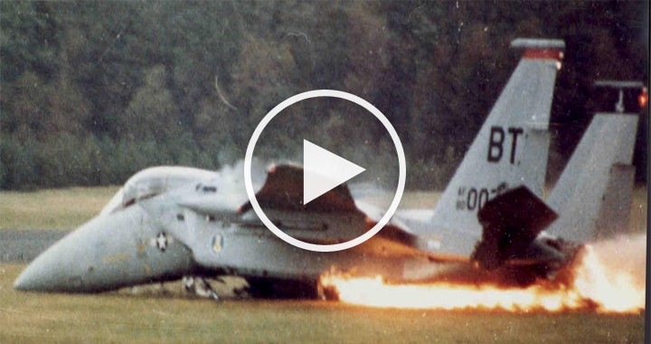 F-15 Emergency landing - Runway Overshoot led to Ejection