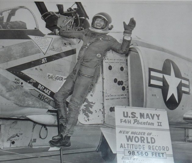 On December 6, 1959, US Navy Commander Lawrence E. Flint set a new world's record when he zooms climbed his YF4H-1 Phantom II prototype to an altitude of 98,561 feet or 30,041 meters