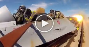 High-Speed Rocket sled ejection seat testing