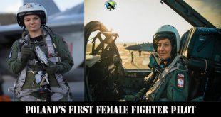 Poland's First Female MiG-29 Fighter Pilot Katarzyna Tomiak-Siemieniewic