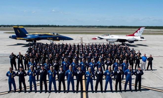 U.S. Air Force Thunderbirds vs U.S. Navy Blue Angels