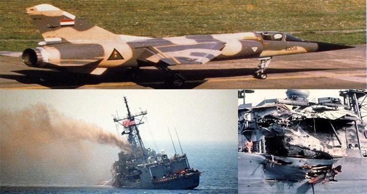 Iraqi jet Aircraft Struck an American Frigate USS Stark