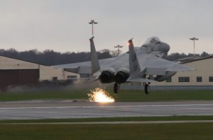 Video of F-15 Arresting Cable Landing - Aircraft's Emergency Brake